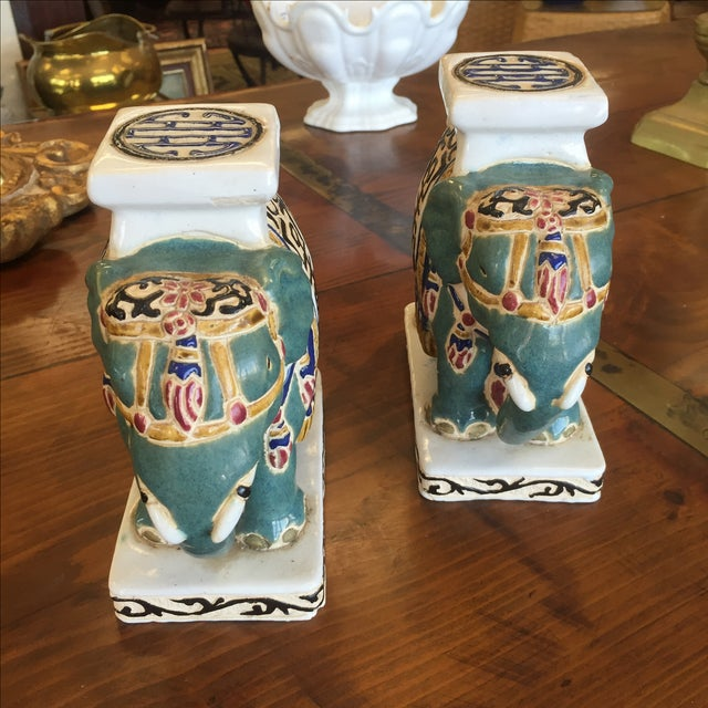 Chinese Pottery Elephants - A Pair - Image 4 of 6