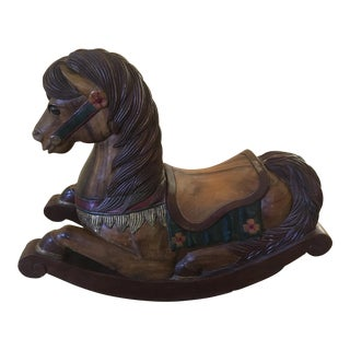 Carved Wood Rocking Carousel Horse