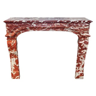 Louis XIV French Brown Marble Mantel