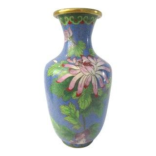 Cloisonné Blue Floral Vase