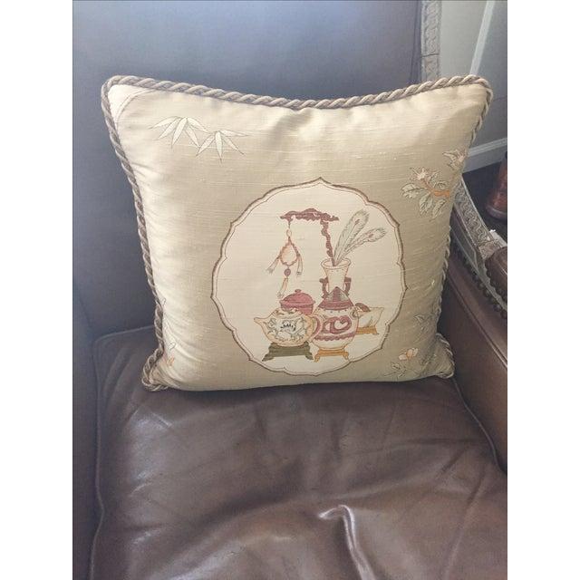 Custom-Made Silk Throw Pillow Chairish