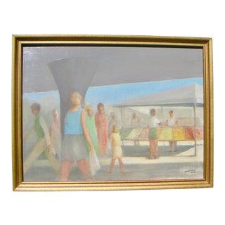 "2003 N.E. Hansen ""Summer Produce Sacramento"" Acrylic Painting"