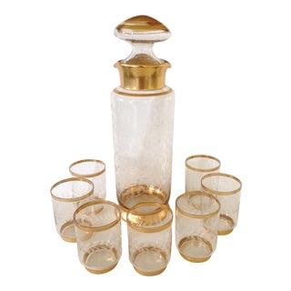 Gilt Glass Beverage Set - Set of 8