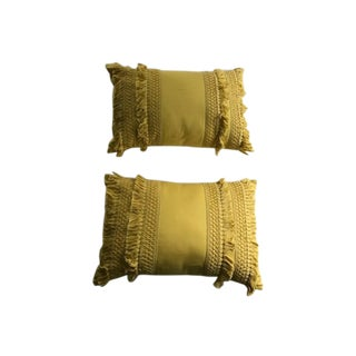 Yellow Throw Pillows - A Pair