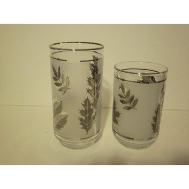 Image of Platnium Leaf Pattern Barware - Set of 12
