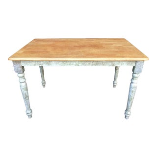 Shabby Chic Farm Table - Oak Top