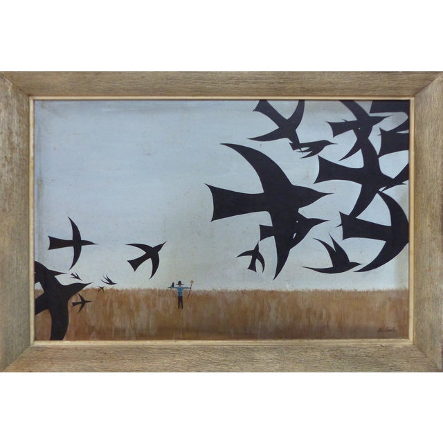 Mid-Century Modern Oil Painting by DI Scala - Image 1 of 7