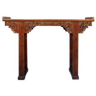 Chinese Ru Yi Altar Console in Brown