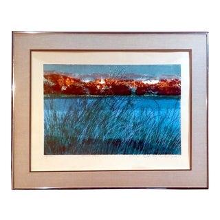 """""""Sierra Lake"""" Serigraph Print by Howard Bradford"""