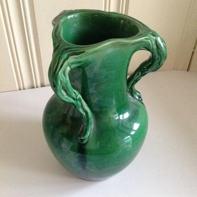 Handmade Mid-Century Emerald Green Vase - Image 3 of 7