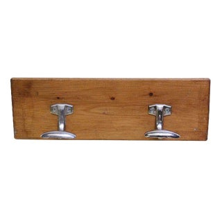 Wooden Plank Double Hook
