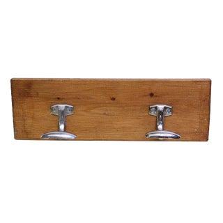 Wooden Plank Double Hook