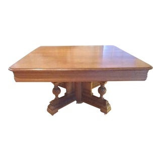 Square Oak Dining Table