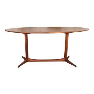 Swedish Mid-Century Teak Oval Coffee Table