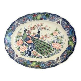 Porcelain Peacock Serving Platter