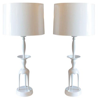 James Mont Style Brass Lamps - A Pair