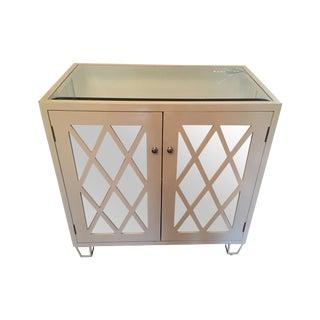 Worlds Away White Mirrored Cabinet