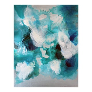 Bella Blue Expressive Modern Abstract Art Painting