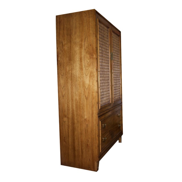 Mid-Century Faux-Bamboo Armoire by Lane Furniture - Image 5 of 8