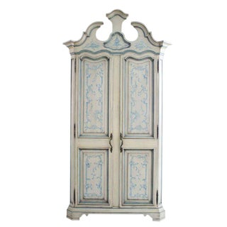 Karges Paint Decorated Chinoiserie Armoire