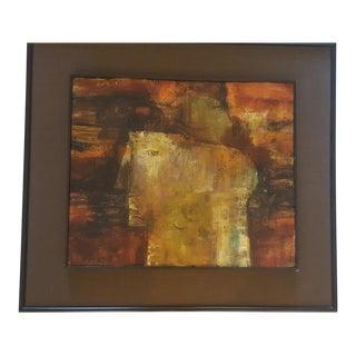 """J. Gerard Singh """"Head of Man"""" Painting, 1968"""