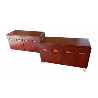 Mahogany Low Cabinets - Pair