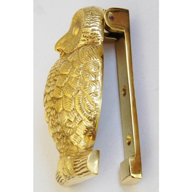Mid-Century Brass Owl Door Knocker - Image 5 of 8