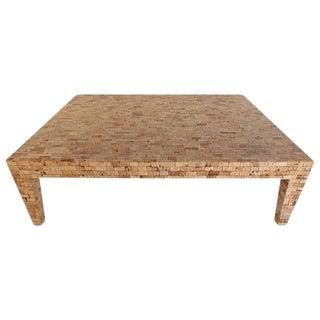 Mid-Century Style Tessellated Cork Coffee Table