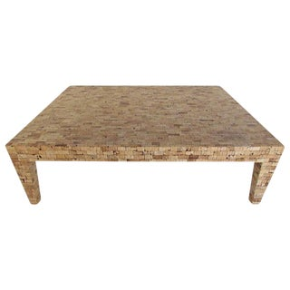 Mid-Century Style Tessellated Cork Coffee Table