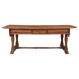Antique Traditional Walnut Partners Desk
