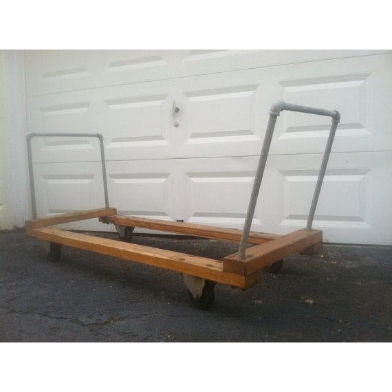 Image of Large Industrial Chic Wooden and Metal Cart