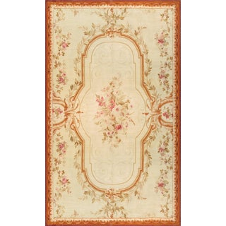 """Pasargad's Antique Abusson Wool Rug - 11'4"""" x 19'"""