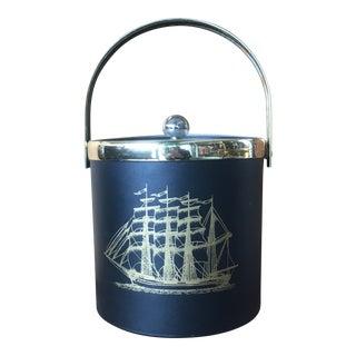 Vintage Nautical Themed Ice Bucket