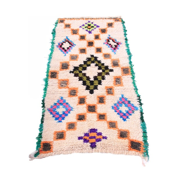 """Image of Colorful Moroccan Beni Ourain Rug - 2'6"""" X 5'"""