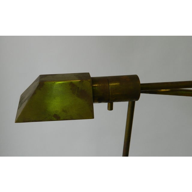 Image of Adjustable Brass Floor Lamp