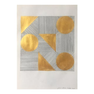 Gold II Graphite & Gold Painting