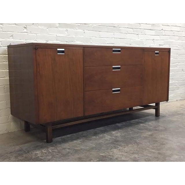 Walnut Mid-Century Modern Dresser & Mirror - Image 4 of 11