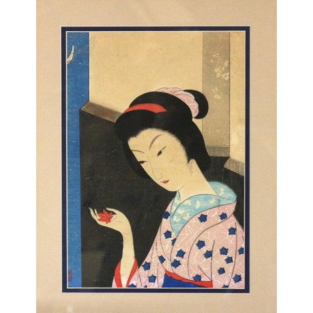 Original 1800s Japanese Asian Art Print - Image 3 of 6