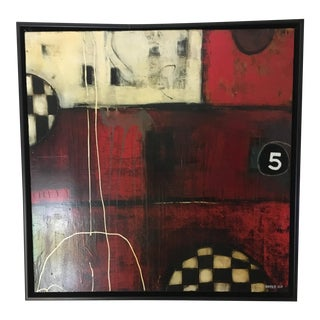 """5 Ball"" Mixed Media by Anke Schofield"