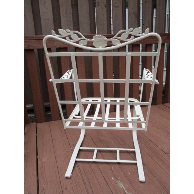 Vintage Russell Woodard Wrought Iron Chairs - Pair - Image 10 of 11