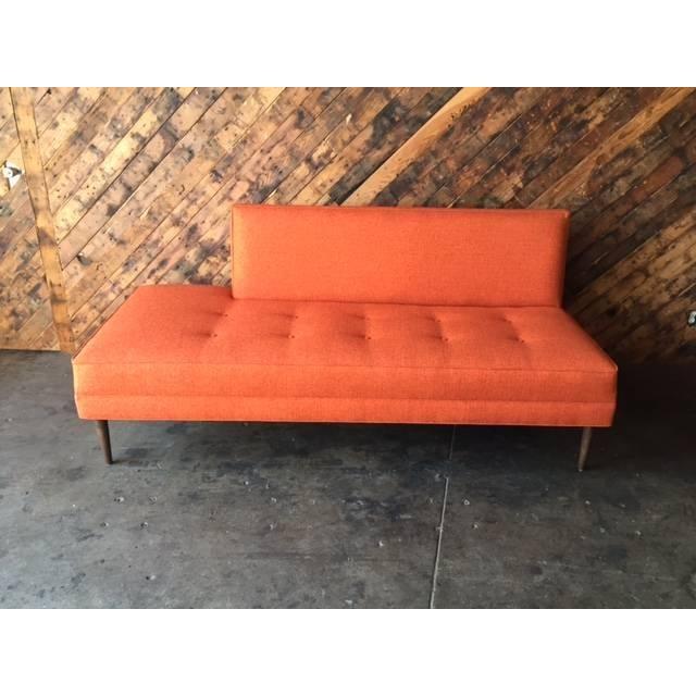 mid century style custom day bed sofa chairish. Black Bedroom Furniture Sets. Home Design Ideas