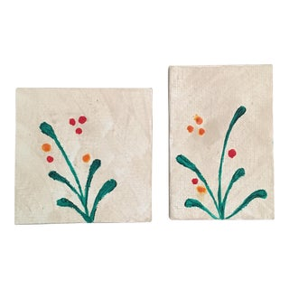 Boho Chic Succulent Painting - A Pair