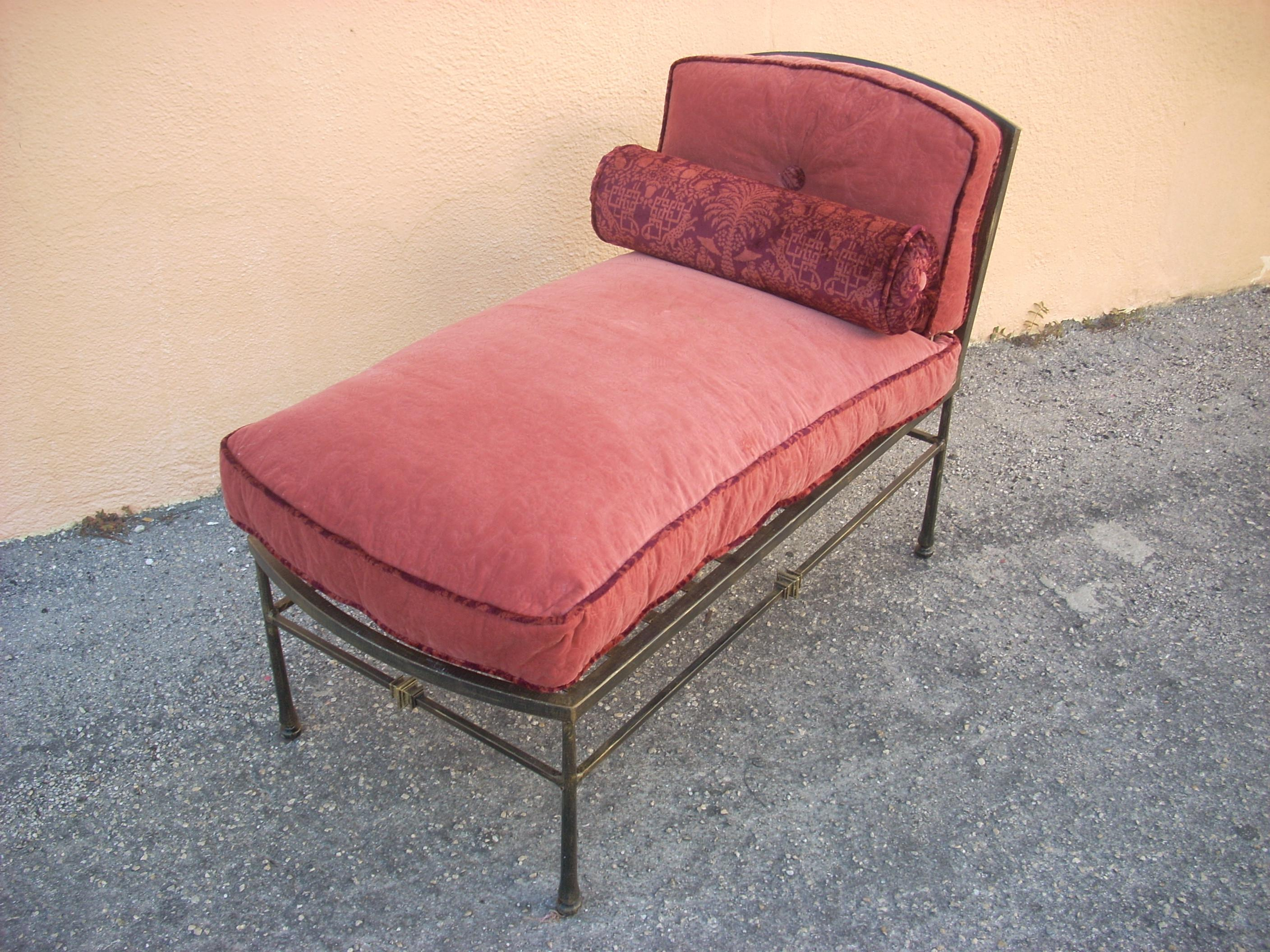 Classic Metal Chaise With Custom Cushions - Image 2 of 11  sc 1 st  Chairish : classic chaise - Sectionals, Sofas & Couches