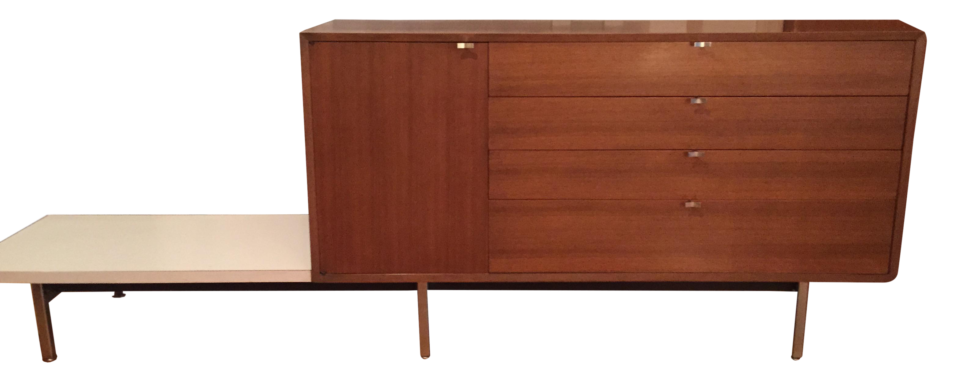 Herman Miller George Nelson Credenza With Attached Table   Image 1 Of 11