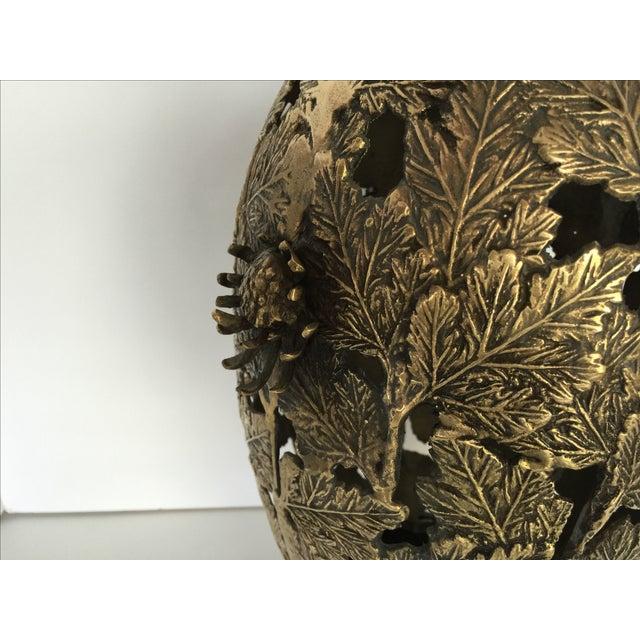 Mid-Century Brass Chinoiserie Lamp - Image 5 of 5