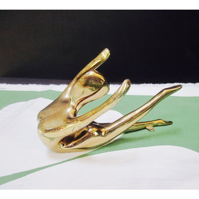 Brass Nude Art Deco Lady Paperweight - Image 10 of 10