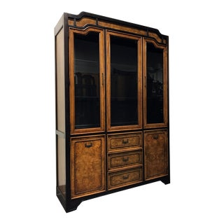 "Stanley ""Kyoto"" Vintage Asian Style China Cabinet"