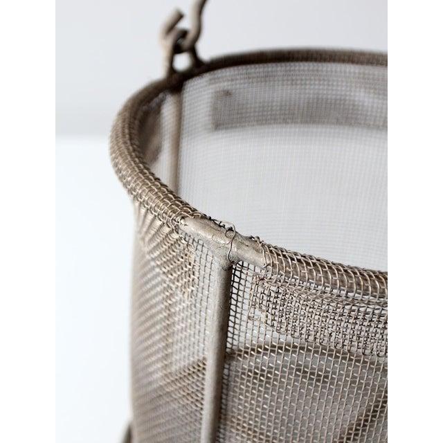 vintage wire mesh basket - Image 7 of 7