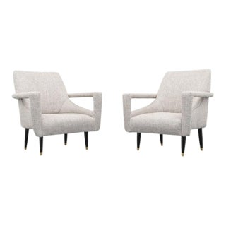 Pair of Lounge Chairs in Manner of Ico Parisi