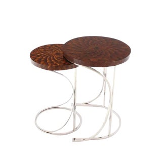 Modern Round Nesting Tables - A Pair
